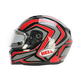 Red/Titanium/Black Qualifier Machine Snow Helmet w/Electric Shield