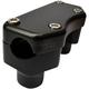 Flat Black Handlebar Riser/Top Clamp Kit - 0602-0811
