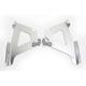Silver Fats/Slims No-Tool Trigger-Lock Windshield Plate Kit - MEK1723