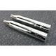 Chrome 4-1/2 in. Mk45 Slip-On Mufflers w/Chrome Machined Tracer End Caps - 550-0669
