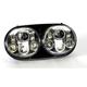 Chrome 5.75 in. Dual LED Headlight - HW195021