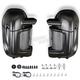 Denim Black Lower Vented Fairings w/Hardware Kit - HW105007
