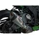 Street Alpha T Stainless/Carbon Fiber Works Finish Slip-On Muffler - 14181BP520