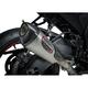 Street Alpha T Stainless/Carbon Fiber Series Works Finish Slip-On Muffler - 11181BP520