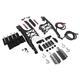 Matte Black One Touch Saddlebag Mounting Hardware/Latch/Lock Kit - HW131374-BL