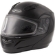 Black MD04 Modular Snow Helmet w/Dual Lens Shield