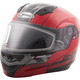 Red/Black MD04 Quadrant Modular Snow Helmet w/Dual Lens Shield