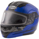 Blue/Black MD04 Quadrant Modular Snow Helmet w/Dual Lens Shield