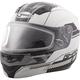 Flat White/Blac MD04 Quadrant Modular Snow Helmet w/Dual Lens Shield