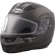 Flat Dark Silver/Silver/Black MD04 Quadrant Modular Snow Helmet w/Dual Lens Shield