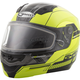 Hi-Vis Yellow/Black MD04 Quadrant Modular Snow Helmet w/Dual Lens Shield
