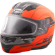 Flat Hi-Vis Orange/Black MD04 Quadrant Modular Snow Helmet w/Dual Lens Shield