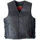 Leather Vest w/2 Conceal Carry Pockets and Lace Up Sides