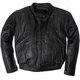 Black Vented Leather Motorcycle Jacket
