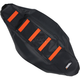 Black/Orange Ribbed Seat Cover - 0821-2110