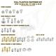 Plastic Body Fastener Kit - KTM-165XC17EXC