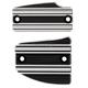 Black 10-Gauge Front and Rear Brake Master Cylinder Cover Set - I-1226