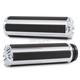 Chrome 10-Gauge Comfort Grips - P-5000