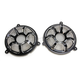 Black Beveled Forged Billet Speaker Grills - 03-916
