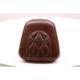 Distressed Brown Diamond-Stitch Sissy Bar Pad - 76759