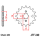 Front Chromoly Steel Alloy 420 16 Tooth Sprocket - JTF249.16