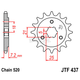 Front Chromoly Steel Alloy Sprocket - JTF437.14