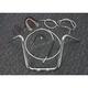 Sterling Chromite II Caliber Handlebar Installation Kit W/ 14 in. Ape Hanger Bars - 38830-114