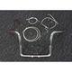 Sterling Chromite II Caliber Handlebar Installation Kit W/ 12 in. Bagger Bars Non-ABS - 38833-212