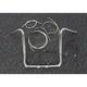 Sterling Chromite II Caliber Handlebar Installation Kit W/ 16 in. Bagger Bars Non-ABS - 38833-216