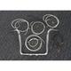 Sterling Chromite II Caliber Handlebar Installation Kit W/ 14 in. Bagger Bars - 38834-214