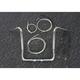 Sterling Chromite II Caliber Handlebar Installation Kit W/ 16  in. Bagger Bars - 38835-216