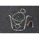 Sterling Chromite II Caliber Handlebar Installation Kit W/ 16 in. Ape Hanger Bars - 38836-116