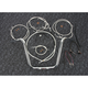 Sterling Chromite II Caliber Handlebar Installation Kit W/ 14  in. Ape Hanger Bars - 38848-114