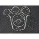 Sterling Chromite II Caliber Handlebar Installation Kit W/ 16 in. Ape Hanger Bars - 38848-116