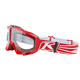 Nemesis Red Radius Moto Goggles w/Clear Lens - 3049-000-000-002