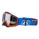 Peak Blue Radius Pro Moto Goggles w/Silver Mirror Lens - 3059-000-000-002