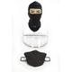 Clear Double Lens Snow Shield Kit w/Balaclava for Strobe Helmets - 02-967