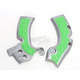 Silver/Green X-Grip Frame Guards - 2374271417