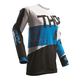 White/Blue Pulse Taper Jersey