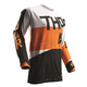 White/Orange Pulse Taper Jersey