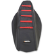 Black/Red Ribbed Seat Cover - 0821-2614