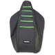 Black/Green Ribbed Seat Cover - 0821-2615