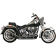 Chrome 1-3/4 in. 2-2 Upsweep Fishtail Exhaust - 726SBS