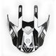 Black/Titanium/White Visor for Pioneer Trigger Helmets - 02-924