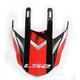 Black/White.Red Visor for Fast Race Helmets - 02-930