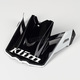Black/White Visor for F3 Helmet - 3866-000-000-004