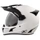 Element Matte White Krios Karbon Adventure Helmet w/Sena 10U Comm