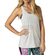 Women's Light Heather Gray Miss Clean Racer Tank