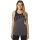 Women's Heather Gray Transferred Muscle Tank Top
