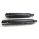 Black Powr-Flo 4 1/2 in. Slip-On Mufflers - 6214RB
